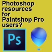 Photoshop resources for Paintshop users?