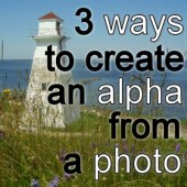 3 ways to create an alpha from a photo