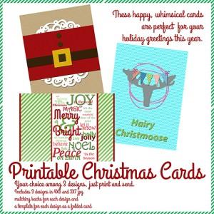 Cara Vincens Printable Christmas Cards