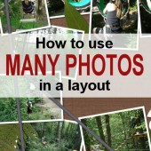 How to use multiple photos on a layout