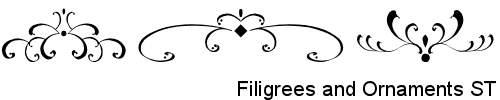 Dingbats-FiligreesAndOrnamentsST