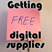 Getting free digital supplies
