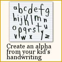 Create alphabet from kid's handwriting in Paintshop Pro