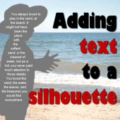 Add text in a silhouette