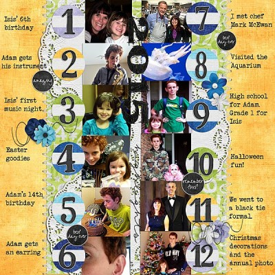 Layout by JustTrace A year in Review for the Dec Pickle Barrel by Created by Jill