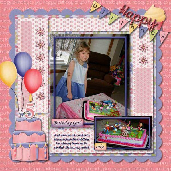 Birthday theme - the cake