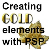 Create gold elements with PSP