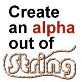 Create an alphabet out of string