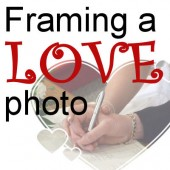 Framing a love photo
