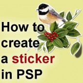 How to create a sticker with PSP