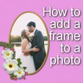 How to add a frame to a photo