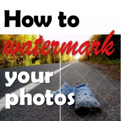 How to add watermarks to your images