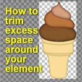 How to trim excess space around your element