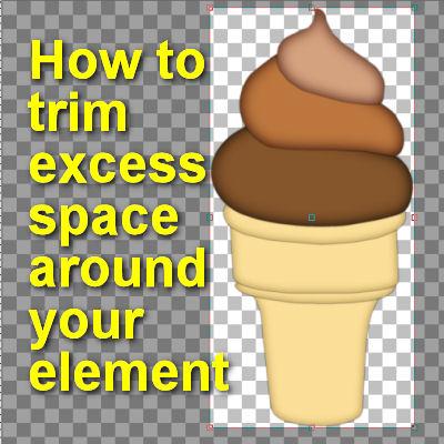 Remove excess space in Paintshop Pro