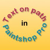 Text on path in Paintshop Pro