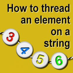 How to thread elements along a string
