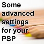 Some advanced settings for your PSP