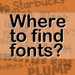 Where to find fonts?