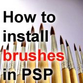 How to install brushes in Paintshop Pro