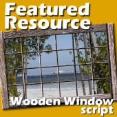 Featured Resource  –  Wooden window script
