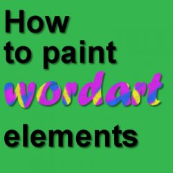 How to paint wordart elements