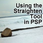 Using the Straighten tool in PSP
