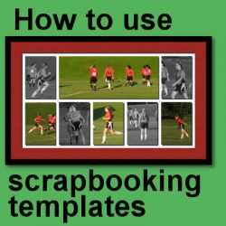 How to use scrapbooking templates