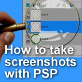 How to create a screenshot with Paintshop Pro