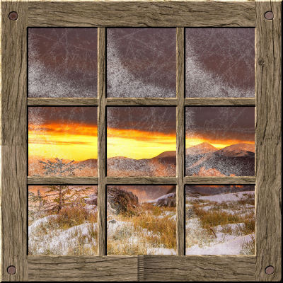 Create a frosty window