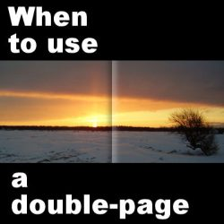 When to use a double-page