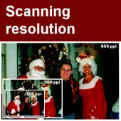 Scanning resolution