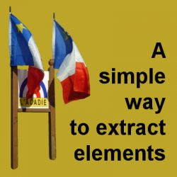 A simple way to extract elements