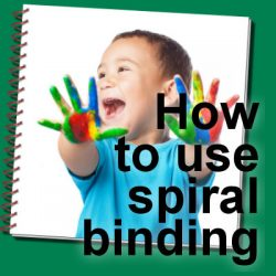 How to use spiral binding