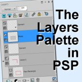 The Layers Palette in PaintShop Pro
