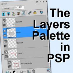 The Layers Palette in PaintShop Pro