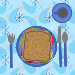 layers-sandwich-dishes-table
