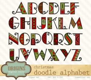 christmas-doodle-alphabet