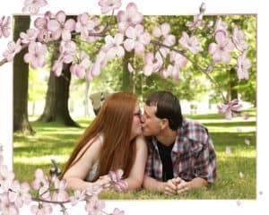jackie-and-corey-engageent-with-cherry-blossom-frame_600