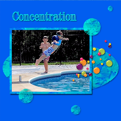 Concentration theme _pool diving photograph
