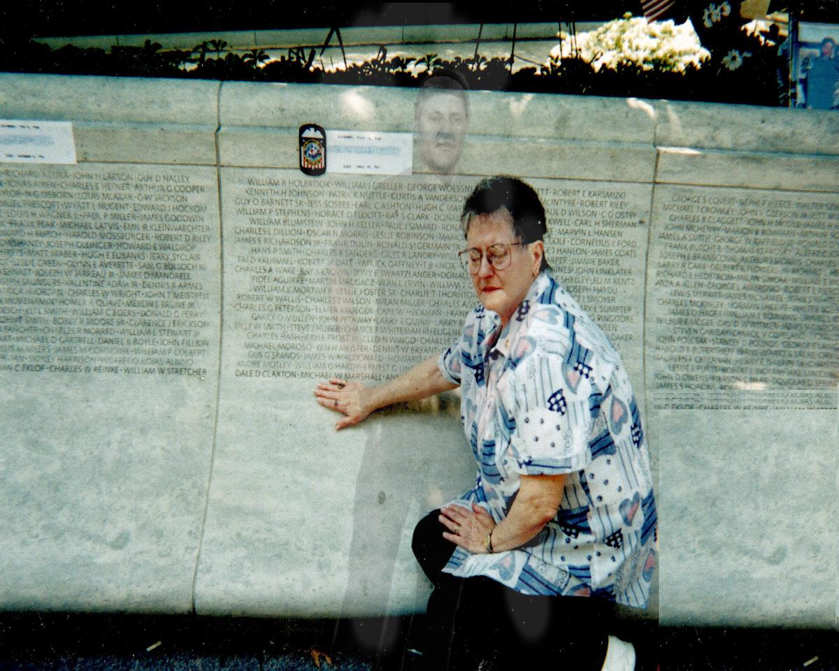 My Aunt at Police Memorial Wall in Washington DC
